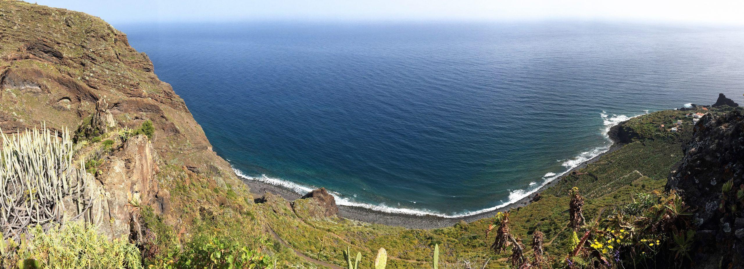 De noordkust van La Palma