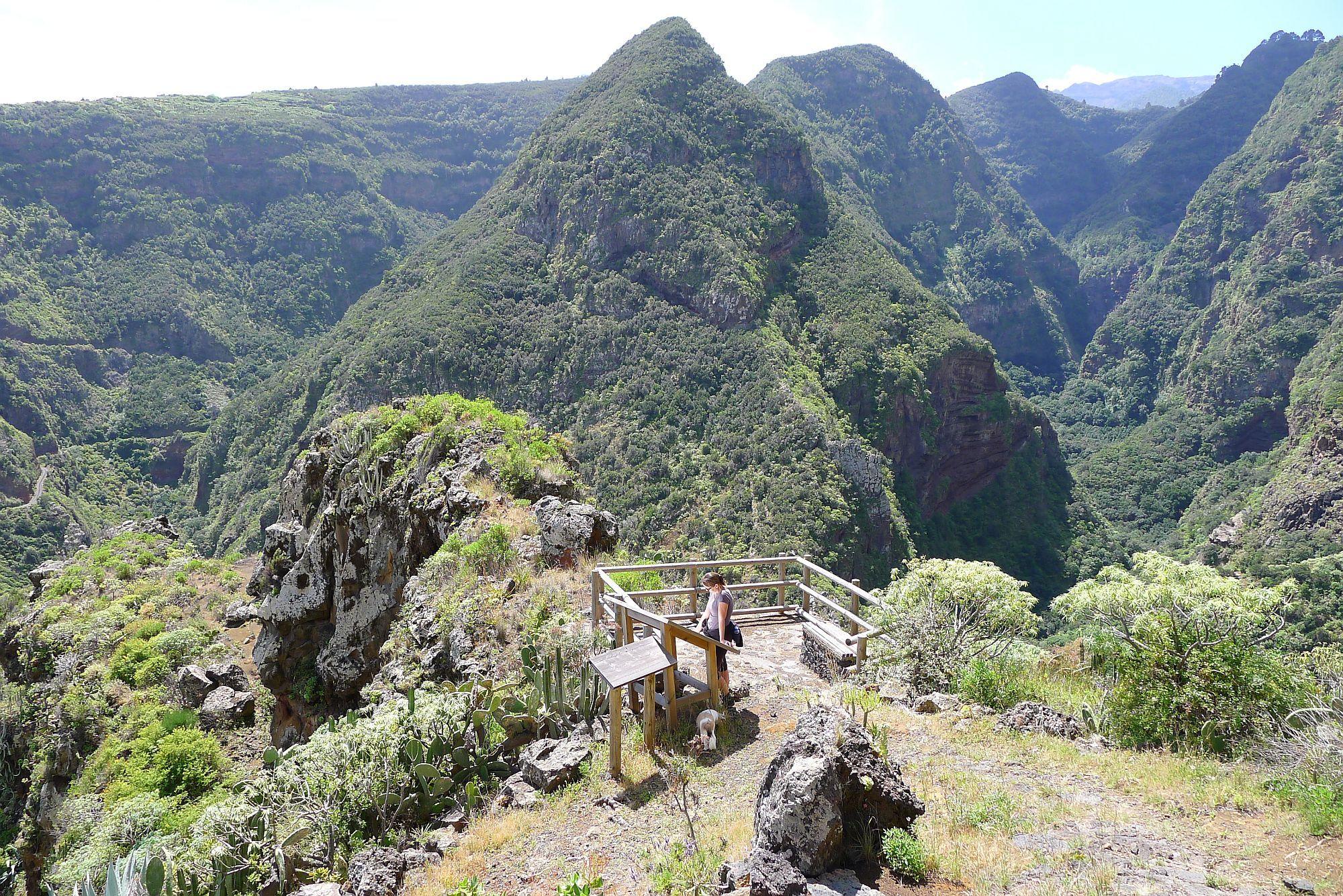 Korte wandeling van El Tablado naar uitzichtpunt