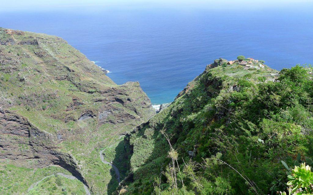 El Tablado tussen twee diepe kloven in het noorden van La Palma